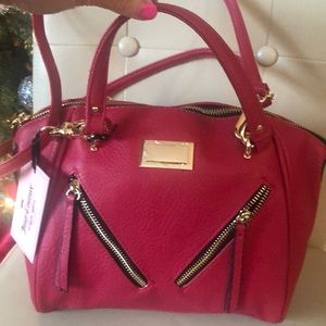 NWT JUICY COUTURE leather lipstick red purse